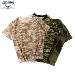 vintage mens clothing summer NZ - Summer Camouflage Vintage T-shirt Men Army Jungle Mens Tee Cotton Fashion Casual T shirt Men Brand Clothing New