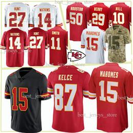 c424032beed Kansas City jerseys Chief 15 Patrick Mahomes 10 Tyreek Hill 87 Travis Kelce 14  Sammy Watkins 50 Justin Houston jersey 2019 Top MEN