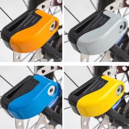 Motorcycle anti theft alarMs online shopping - Security Motorcycle Bike Alarm bicycle locks Sturdy Wheel Disc Brake Lock Safety Alarm lock with key Anti theft lock ZZA518