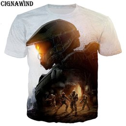 Discount halo games - New arrival Halo UNSC t shirt menwomen hot game Halo Master Chief 3D print t-shirts casual Harajuku style tshirt streetw