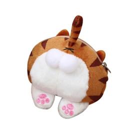$enCountryForm.capitalKeyWord Australia - Girl Cute Cat Butt Tail Plush Coin Purse Women Change Purse Bag Small Zipper Mini Walllet Card Holder Dropshipping Wholesale #y