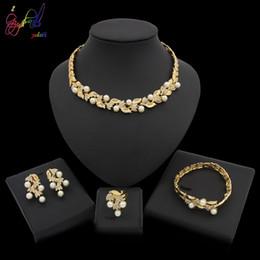 $enCountryForm.capitalKeyWord Australia - Yulaili Elegant Imitation Pearls Crystal Stud Earrings Necklace Women Jewelry Sets For Bridal Wedding Lady Party Daily Accessories