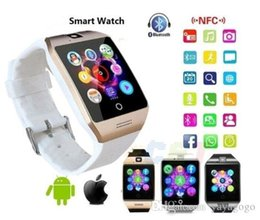$enCountryForm.capitalKeyWord Australia - Wholesale Q18 Smart Wrist Watch with camera Bluetooth GSM Phone For Android Samsung iPhone