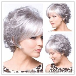 $enCountryForm.capitalKeyWord Australia - Quality Chic womens Cut Hairstyles Synthetic Short Wavy White Wigs for African American Women Hair Wigs