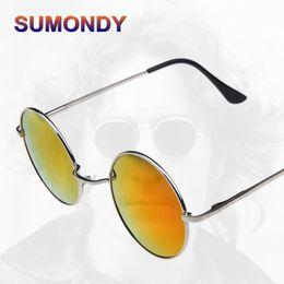 a4cf562f6217 SUMONDY Retro Designer Round Metal Frame Sunglasses Women Men Hipster Stars  Styles John Lennon Commemorate Sun Shades SA18