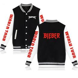 Justin Bieber Fashion Coating Australia - Justin Bieber purpose fashion hip hop pocket Baseball Jacket men women Sweatshirts coats casual long sleeve hoodies Jackets tops