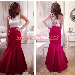 Cheap stunning evening dresses online shopping - Stunning Mermaid Satin Sleeveless Evening Dresses Applique Sheer Back African Cheap Prom Dress Party Formal Special Occasion Pageant Gowns