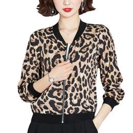 $enCountryForm.capitalKeyWord Australia - 2019 Autumn Bomber Jacket Leopard Women Zipper Thin Chaqueta Mujer Summer Plus Size Biker Jacket Long Sleeve Basic Female Veste