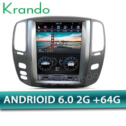 "Multimedia Player For Car Australia - Krando Android 6.0 12.1"" tesla style Vertical screen car DVD radio gps navigation for Lexus Lx470 2002-2007 multimedia player wifi"