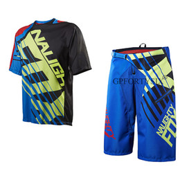 Bicycling Gear Australia - NEW 2018 NAUGHTY FOX Summer Men Motocross Gear Combo Bicycle Mountain Bike Off-road DH Cycling Suit Shorts & Jersey