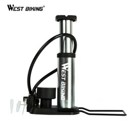 Cycle Pedals Australia - WEST BIKING Ultra-light Bicycle Portable Pump Cycling Pump With Barometer MTB Road Bike Outdoor Sports High Pressure Pedal #265829