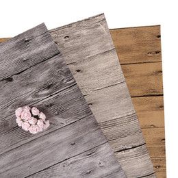 Computer photo paper online shopping - wood grain photo backdrop paper old wood texture waterproof PVC film cover photography background material shoot picture food fruit jewels