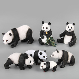 $enCountryForm.capitalKeyWord Australia - 7pcs set Various shapes China panda family Bamboo forest Animal model action figures Solid Collection Children toy Gift For Kids