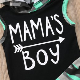 baby boy sleeveless top Australia - 2018 Brand New Toddler Infant Baby Kids Boys Outfits Sleeveless Hoodie T-shirt Top+ Pant PP Shorts Camo 2PCS Set Summer Clothing