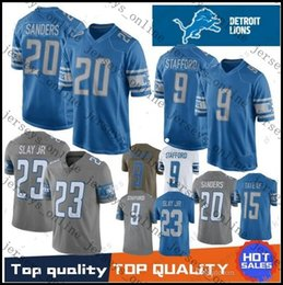 0d9bebc92 2019 Mens 9 Matthew Stafford Detroit 20 Barry Sanders Lion Jersey 15 Golden  Tate III 23 Darius Slay JR Jerseys All Stitched S-3XL01