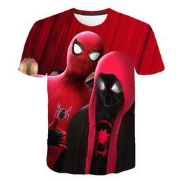 t shirt super hero Canada - Hot Sale Men's T-shirts 3D Printed Popular Top Spider-Man Pattern T-Shirt Super hero Tshirts Men's Short Sleeve Personalized Boy's Tops