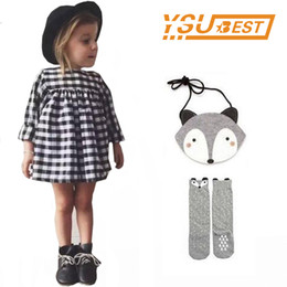 Plaid Clothes Australia - Baby Girls Long Sleeve Plaid Children Dresses Latest Models Baby Girls Dress Costume European Vestido Kids Party Clothing Q190522