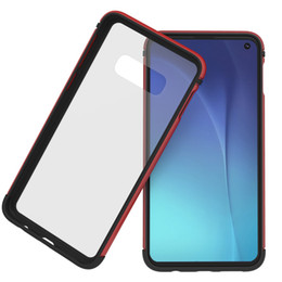 Glasses Case Material Australia - Back Tempered glass Protective Case For Samsung galaxy S10 lite s10 plus Metal Frame Light weight + tpu case metallic feel glass material
