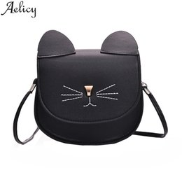 Chinese  Aelicy 2019 Women Fashion Pure color Leather Shoulder Messenger Bags Ladies Satchel Tote Purses And Handbag Small Girls Cutes manufacturers