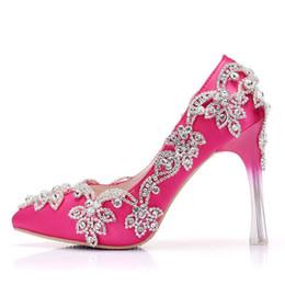 5f368064 Moda de lujo con cuentas de cristal del partido de noche de la boda Prom  bombas