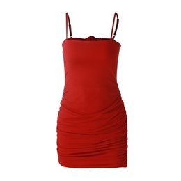 dresses states UK - Women's explosion models 2020 Europe and the United States sexy strapless backless summer strap dress