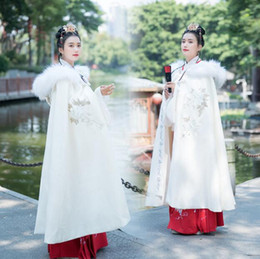 Wholesale hanfu costume for sale - Group buy 2020 Bridal Wraps Winter Wedding Coat Hanfu Women Autumn And Winter Cloak Costumes Chinese Style Embroidery Flower Coat Chinese Traditional