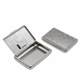 paper pipe NZ - Preminum Stainless Steel Metal Cigarette Tobacco Herb Box Case For 95MM Cigarette Rolling Cone Paper Storage Case Smoking Pipe Accessories