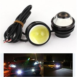 motorcycle drl NZ - 10Pcs Bright 12V 10W Car Lights fish eye Led Lens DRL Fog Lamp Eagle Eye Motorcycle DRL Automobiles bulb White Yellow waterproof