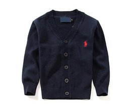 Wholesale New Children's Top Clothes Brand 100% Cotton Baby Sweater High Quality Kids Outerwear Girl Sweater Boy Sweater V-neck Polo Sweaters