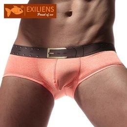 EXILIENS Homens Boxers Sexy Mens Underwear Boxer Cotton Cueca Masculina Ropa Interior Hombre calzoncillos Deslize Sous Tamanho S-XL 1116 venda por atacado