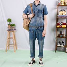 $enCountryForm.capitalKeyWord Australia - American Retro Denim Jumpsuit Male Detachable One-piece Brand Fashion Suit Men Jeans Men And Women High Quality Denim Overalls