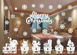 $enCountryForm.capitalKeyWord Australia - Hot Home Festive Christmas Snowman Removable Home Vinyl Window Wall Stickers Decal Decor Christmas Transparent window Wallpaper Shop