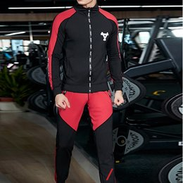 Body Fitness Suit Australia - CALOFE Running Jogging Sets Men's Hooded Workout Clothes Long-sleeved Running Suits Male Gym Fitness Body Sportwear Sports Suits