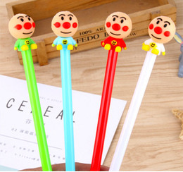 $enCountryForm.capitalKeyWord NZ - Wholesale gel pens free shipping Creative Smiling Face Doll Neutral Pen Red Nose Clown Water Pen Student Stationery424