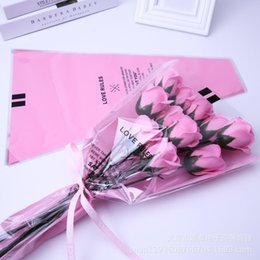plastic supplies NZ - heap Gift & Wrapping Supplies 10PCS Florist Plastic Flower Packaging Bags Single Rose Bags Flowers Wrapping Paper Valentine's day Roses ...