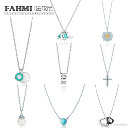 $enCountryForm.capitalKeyWord Australia - FAHMI Charm 925 Sterling Silver Stars Moon Lightning Heart Shape Necklace Pearl Cross Classic Sign Pendant Clavicle Chain TIF