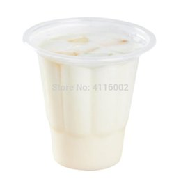 $enCountryForm.capitalKeyWord Australia - 2000pcs 230ml Disposable Plastic Ice Cream Bowl Dishes Flower Shape Parfait Plastic Cup Event Party Wedding