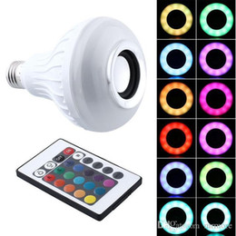 Colorful Speakers Australia - Hot Sale RGB LED Light Bulb E27 12W Wireless Bluetooth Speaker Music Playing 16 Colors Lamp Bulb Lighting With 24 Key Remote Controller