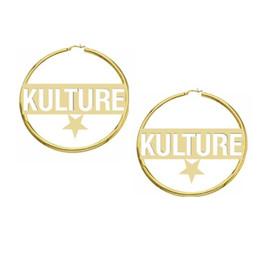 $enCountryForm.capitalKeyWord Australia - Custom Name Earrings For Women Bijoux Stainless Steel Personalized Name Star Hoop Earrings Jewelry Accessories Birthday Gift