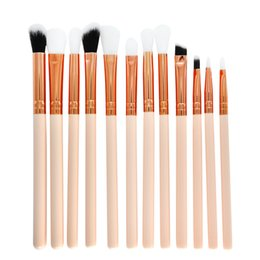 eye shadow 12 Australia - 12 Pcs Makeup Brush Set Professional Face Eye Shadow Eyeliner Foundation Blush Lip Makeup Brushes Powder Liquid Cream #05