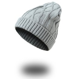 $enCountryForm.capitalKeyWord Australia - Acrylic Winter Classic Knitting Pattern Sport Skull Hat Man Woman Beanies Rib Cable Knitted Beanies For Adults Mens Womens Yarn Thick Caps