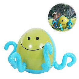 toy gardens NZ - Inflatable Toy Children Outdoor Octopus Playing Sprinklers Water Game Water Jet Ball Beach Ball Lawn Game Spraying Garden Grass Green