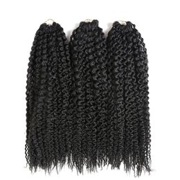 Chinese  3Pcs Lot Synthetic Braiding Hair Extensions Freetress Pre Loop Island Kinky Curly Crochet Braids Twist jumbo Black Blonde Brown Kanekalon manufacturers