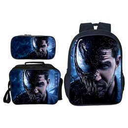 $enCountryForm.capitalKeyWord NZ - New Arrivals 3pcs set Printing Hero Venom Kids Baby School Bags Suit Bag Cartoon Children Backpacks for Boys Schoolbag