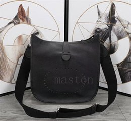 INTERESTINGBAG Handbag bag calfskin Women evelyn e5,Purses designer GM Genuine Leather famous brands shoulder evelyne Crossbody Bags
