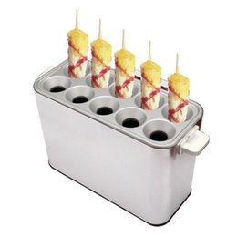 Hot dog maker macHine online shopping - Commercial Hot Dogs Baking Maker Breakfast Machine Sausage Machine Grilled Sausage Automatic Egg Roll Machine