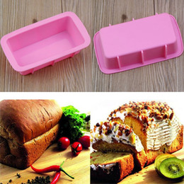 silicone rectangle cake mould NZ - Baking Dishes Silicone Cake Mould Pan Oven Rectangle Mould Silicone Bread Loaf Cake Mold Forms Non Stick AN2153