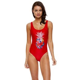 3a2d8e98921 Pineapple Swimsuit UK - Pineapple 1 One Piece Swimsuit Push Up Monokini  Plus Size Swimwear Women