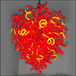 $enCountryForm.capitalKeyWord NZ - New Arrival Cheap Price Mouth Blown Glass Pendant Light Unique Design Chihuly Style Hand Blown Murano Glass Ceiling Lights Designer