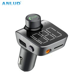 UniqUe mp3 player online shopping - ANLUD Bluetooth FM Transmitter Wireless Bluetooth Car Kit Car MP3 Player Unique Display Screen Aux Modulator Handfree